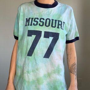 Vintage Tye Dye Missouri Ringer T-shirt